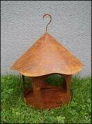 Vogelhaus rund, Stellen / Hängen - Rost, 28x28 cm