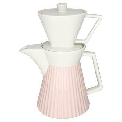 Greengate Kaffee Kanne mit Aufsatz pink