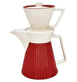 Greengate - Kaffeekane mit Aufsatz Alice rot h 14 cm