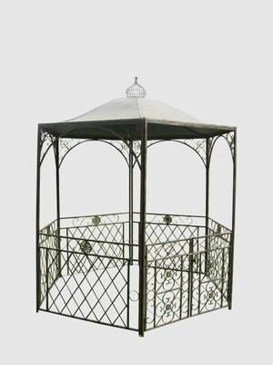 Pavillon - nur auf Vorbestellung! dunkelbraun lackiert