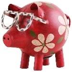 Spardose Schwein, 18x13x14 cm, Metall