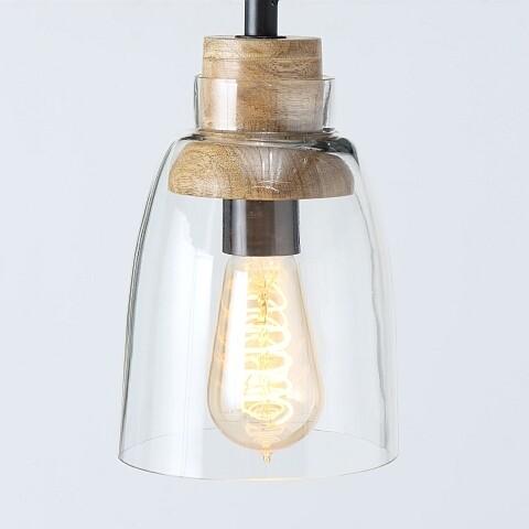 Lampe, Glas Holz