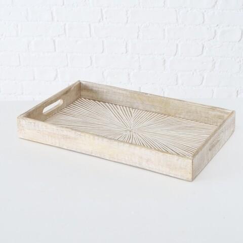 Tablett, Mango Holz, 43x28 cm