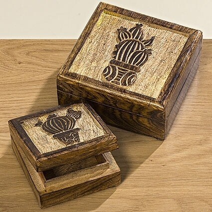 Holzbox, Set, 2tlg