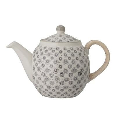 Teekanne, grau, 1l - Keramik