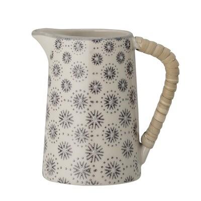 Milchkrug, Keramik, d 6cm, h 9cm, grau