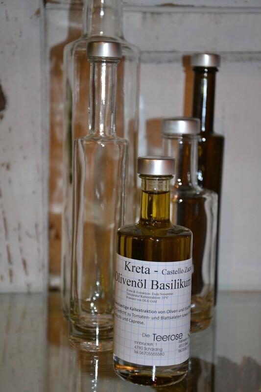 Kreta Olivenöl Basilikum
