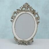 Spiegel, H 40,00 cm, B 3,50 cm, Kunstharz, Silber