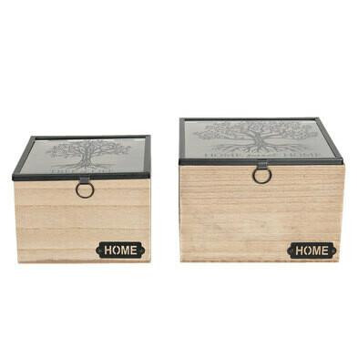 Holzkästchen - Set