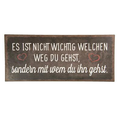 Textschild, 30x13 cm