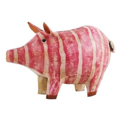 Spardose Schwein, 23x10x15 cm, Metall