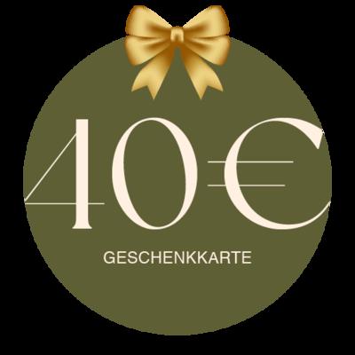 Geschenkkarte Vor Ort 40€