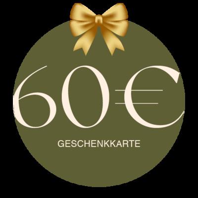 Geschenkkarte Vor Ort 60€