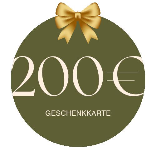 Geschenkkarte Vor Ort 200€