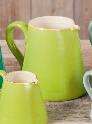 >Krug, h 16cm - hellgrün - Italienische Keramik