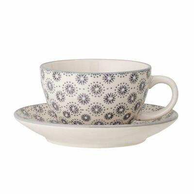 Tasse mit Unterteller - Keramik