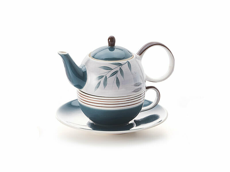 Tea for one Set, Keramik, Kanneninhalt 0,4l, Tasseninhalt 0,2 l