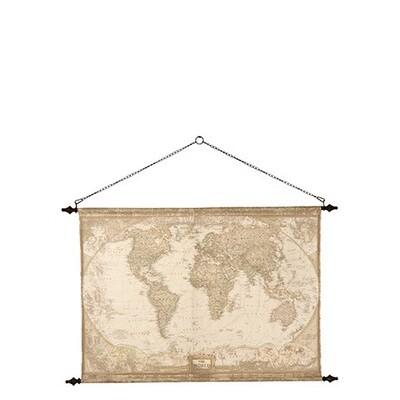 Wandbild Weltkarte