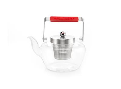Teekanne, Glas, 0,9l - mit Sieb