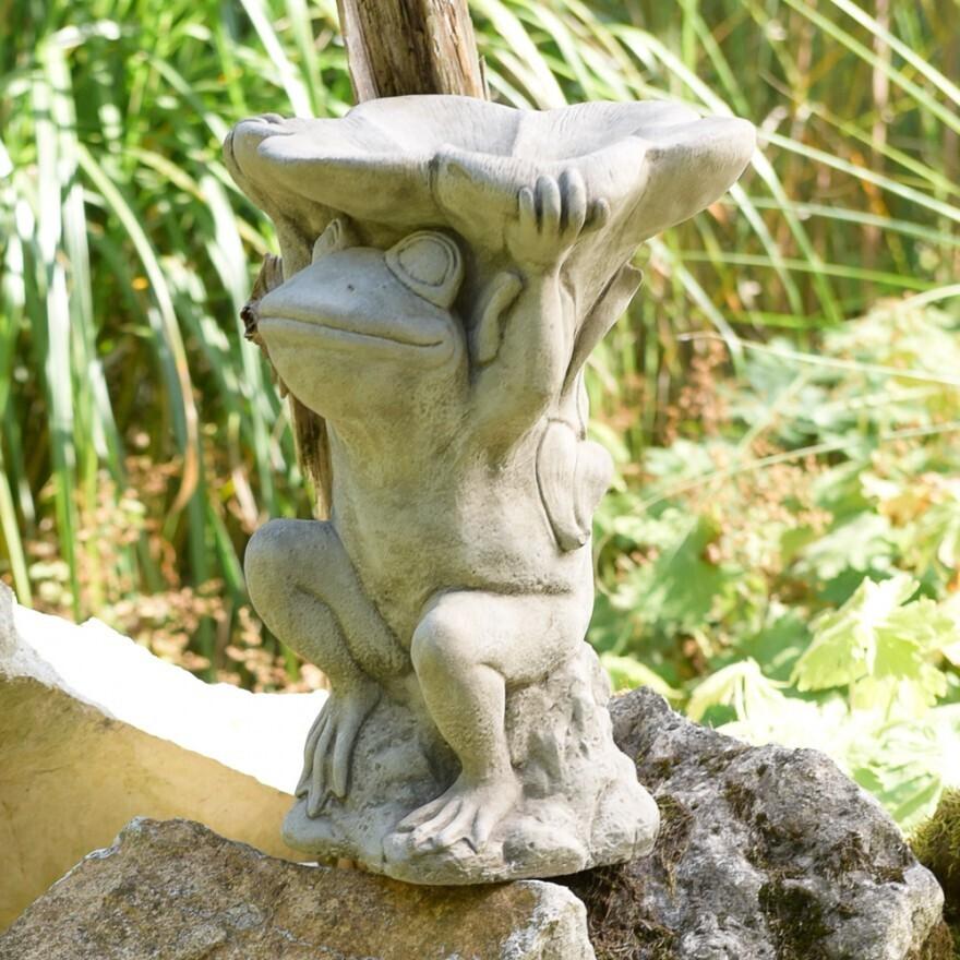 Frosch - Vogelbad - Englischer Steinguß
