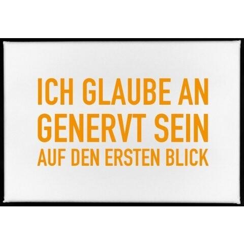 Magnet, 79 x 53mm, ICH GLAUBE AN GENERVT SEIN AUF DEN ERSTEN BLOCK