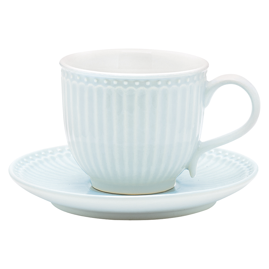 Tasse + Untertasse, Alice pale blue, h 8,5 cm