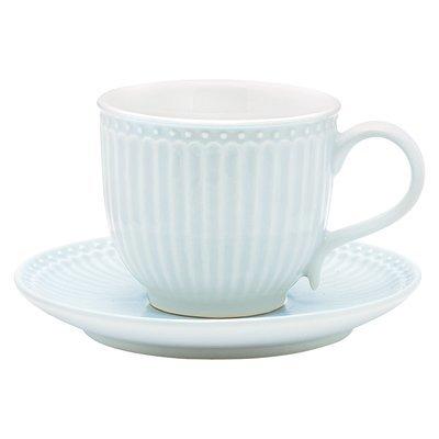 Tasse + Untertasse, Alice pale blue, h 8,5 cm