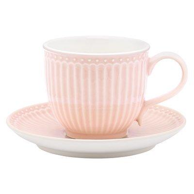 Tasse + Untertasse, Alice pale pink, h 8,5 cm