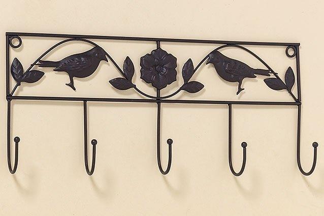 Garderobe, Eisen braun, l 43cm, h 19 cm