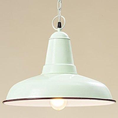 Decken Lampe, Eisen grün, d 40 cm