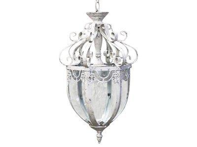 Franz. Deckenlampe antique weiß , h547d31 cm
