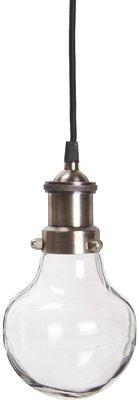 Lampe -Birnenförmig Ib laursen, Glas, h24/d 13 cm