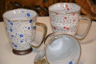 Becher Keramik blau