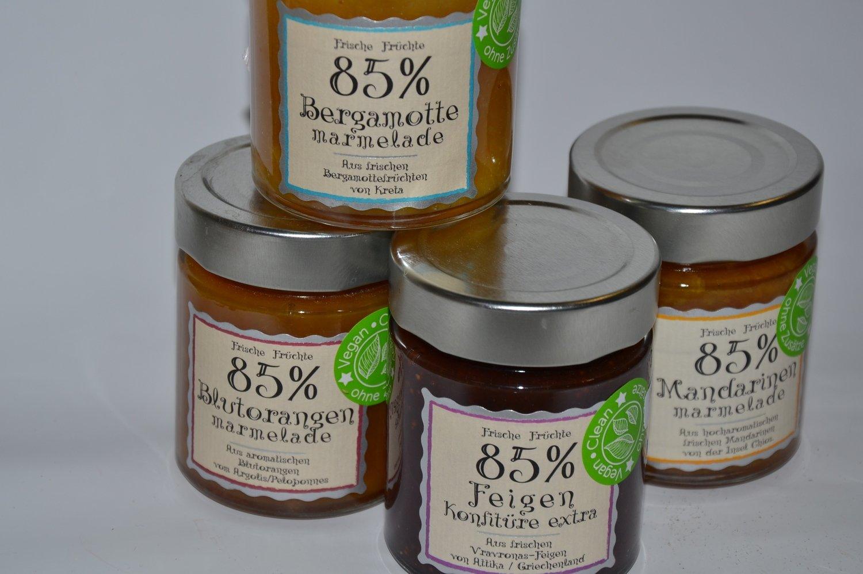 Mandarinen Marmelade 85% aus Kreta