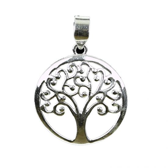 Baum des Lebens Anhänger, 925er Silber, 2,5 cm