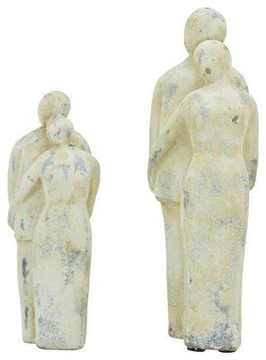 Statue, Figur Paar Keramik, 8,5x7,5x21,5 cm