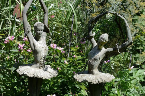 Figur Ballerina, Gusseisen 30x30x125cm - kein Versand!