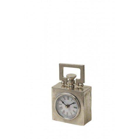 Uhr, Nickel, 10x5,5x14 cm