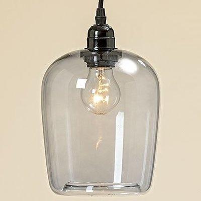 Lampe, Glas, h 27cm