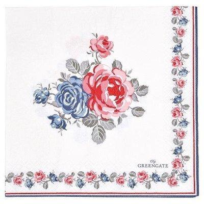 Papier - Servietten Hailey white 20 Stück