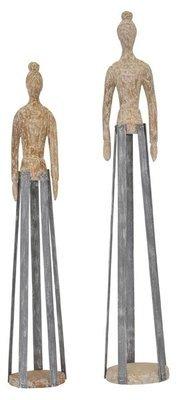 Figur, Holz,  10x10x57 cm