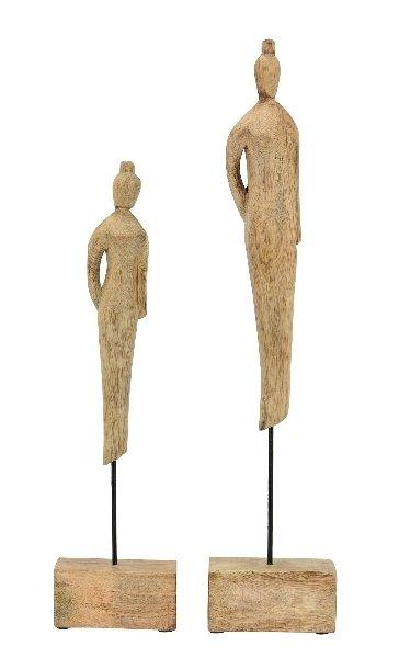 Figur, Holz - Metall, 10x6x47 cm