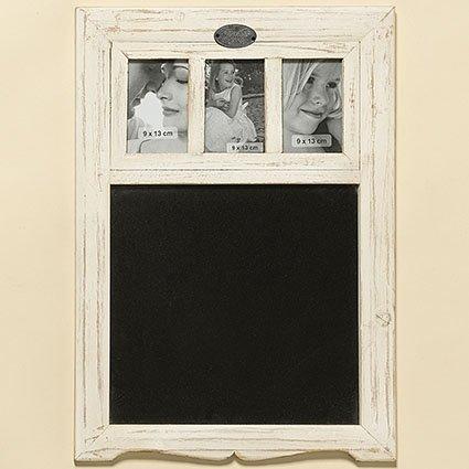 Kreidetafel mit 3 Bilder, 41x57 cm