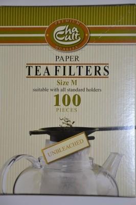Tee-Papierfilter ungebleicht für Kannen bis 1,2 l, 100 Stück pro Schachtel