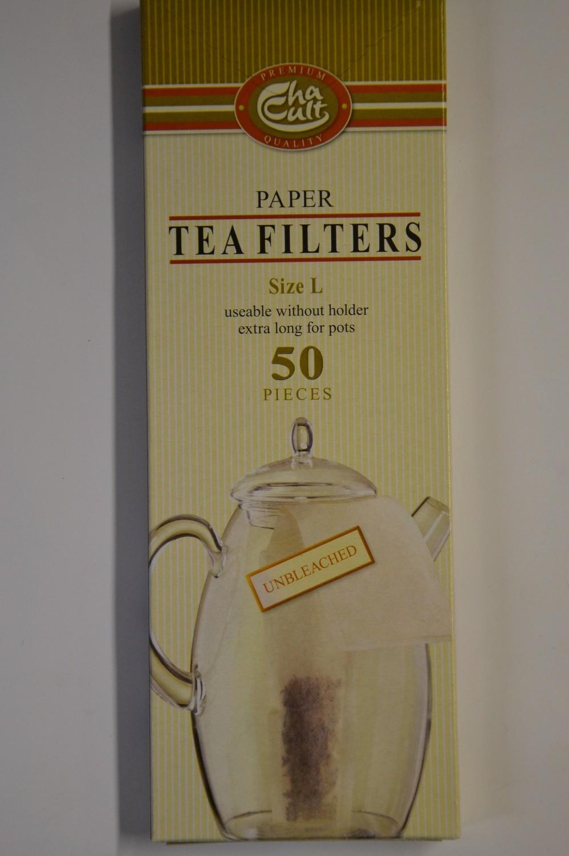 Tee-Papierfilter ungebleicht für Thermoskannen , 50 Stück pro Schachtel
