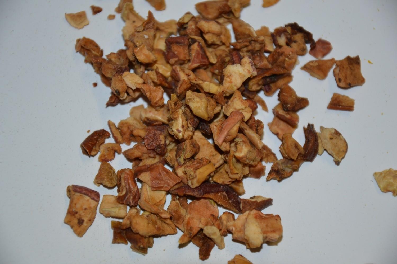 Apfelstücke geschnitten
