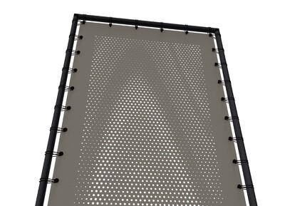 Textiler Sicht- und Sonnenschutz aus wetterbeständigen Acryl- oder Polyestergeweben, für Draußen und Drinnen