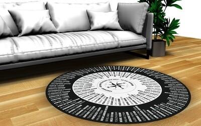 Der unterhaltsame Teppich, der Mittelpunkt deiner Wohnung. 140 oder 200cm Durchmesser