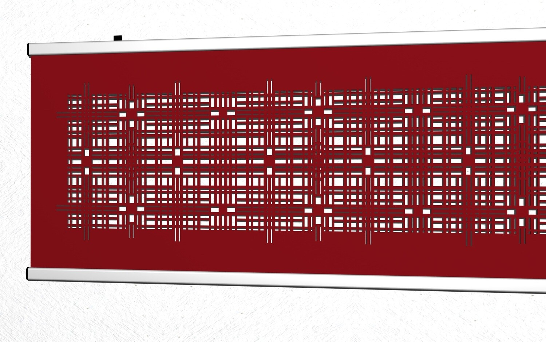 Modernes textiles Wandbild ca. 180 x 60cm in schwarz oder rot