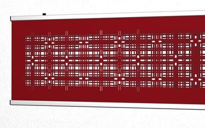 Moderner textiler Wandbehang ca. 180 x 60cm in schwarz oder rot